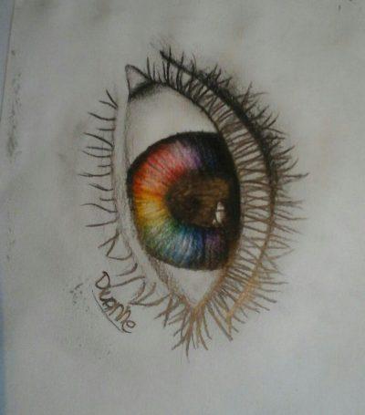 Regenboog oog